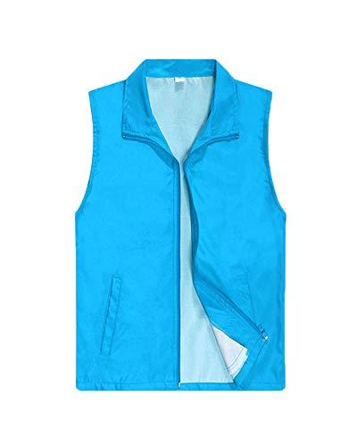 erung Weste Freiwillige Arbeitskleidung Aktivität Tops Blau 2 XL ()