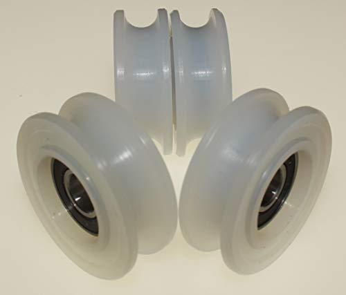 4 Stück Nylon Riemenscheibenrollen mit 10mm Rundnut 45mm Ø 10mm Lager 50kg Tragkraft präzise in der EU gefertigt (45-10-10)
