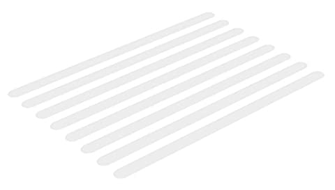 VALNEO Bath and Shower Anti Slip Sticker Strips, pack of 8, transparent, self adhesive sticking strips | 2 Year Satisfaction Guarantee | non-slip bath mat sticking stripes, long- term solution for a safer non slippy bathing and showering