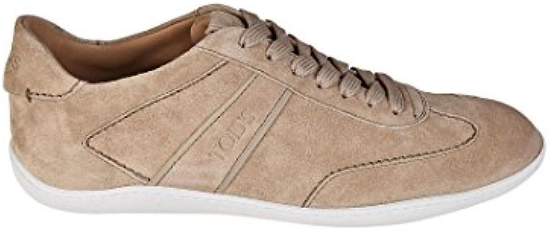 Tod's scarpe da ginnastica Active 08A in Suede XXM08A0S480BYEC606 Beige Uomo   Exit    Uomo/Donna Scarpa