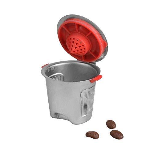 NOBCK Kaffeefilter, Edelstahlfilter, Wiederverwendbare Kapsel Kaffeemaschine, Handfilter (Farbe:...