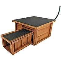 Deluxe ventilé Maison pour hérissons - refuge pour animaux en bois massif