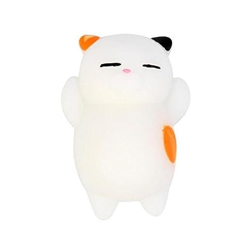 ADESHOP 3pcs Nettes Mochi Squishy Katze-Squeeze Heilendes Spaß Scherzt Kawaii Spielzeug-Druck-Entlastung