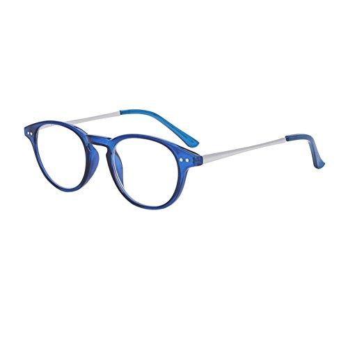 Haodasi Vintage Lesebrille Retro inspiriert Oval Cat Eye Brillen für Männer und Frauen lesen (Frauen Lesen Brille)