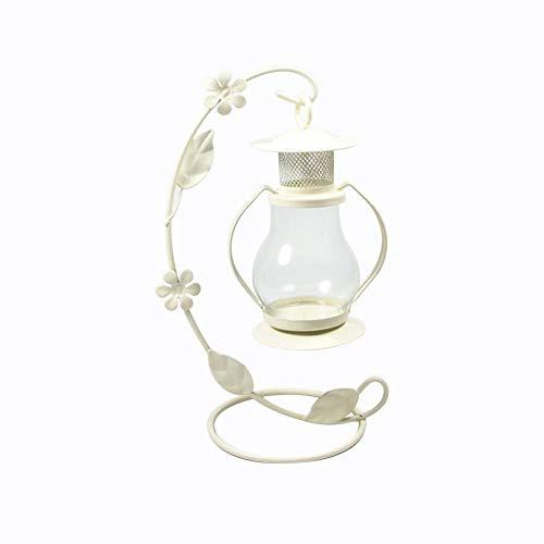 Lubier 1Stück Leuchter mit Pferdelicht Laternen Windlichthalter Personifizierte marokkanische Windlampendekoration im europäischen Stil Eisen Kerzenständer Halter