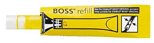 Stabilo 070/24 - Recambio de tinta para rotulador Stabilo System Boss Original (20 unidades, 3 ml), color amarillo