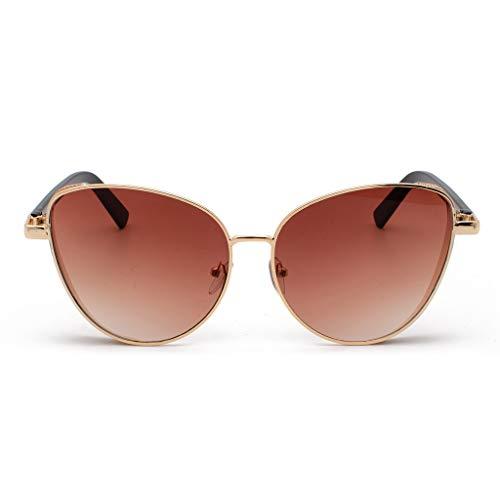 Lazzboy Polarisierte Sonnenbrille Für Frauen Mann Verspiegelte Linse Mode Brille Brillen Klassische Damen Polarisiert Modische Runde Retro Vintage Männer(Braun)