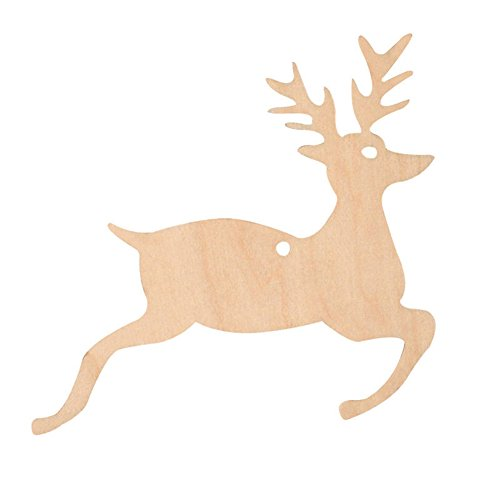 chneemann Weihnachten Bäume hängende Dekoration Ornaments Anhänger, holz, einfarbig, Jumping Deer (Fallen Klassenzimmer Dekorationen)