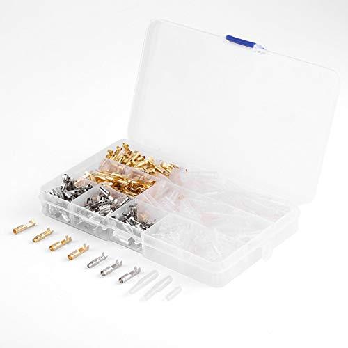 100 paar 3,9mm messing kugelstecker crimp terminal switch isolierte kabel draht anschlussklemme männlich und weiblich mit abdeckung fall JBP-X Quad Crimp Tool
