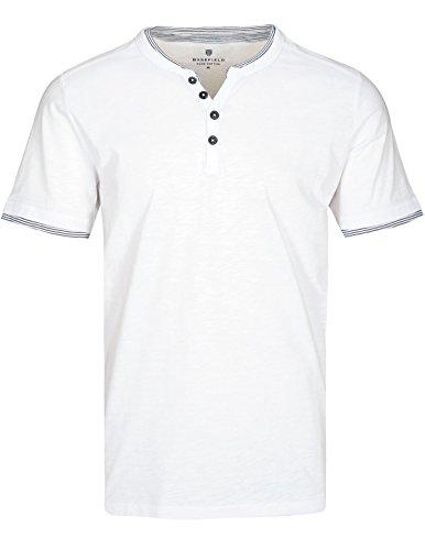 Basefield Herren Henley Shirt Kurzarm - Dusty Navy (219011657) 100 WEISS