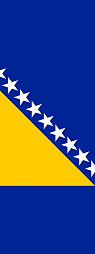 magFlags Ausleger-Flagge: Bosnien und Herzegowina | Hochformat Fahne | 6m² | 400x150cm » Fahne 100{eff06cf1136bc9491fcaa800f663d3a58d2c94c10ddcd9490ffc54a2aa7f2fcd} Made in Germany
