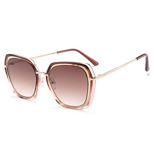 Sunnyj occhiali da sole quadrati da donna occhiali da sole con lenti sfumate montatura oversize occhiali da sole da donna cat eye occhiali da sole rosa gialli 2