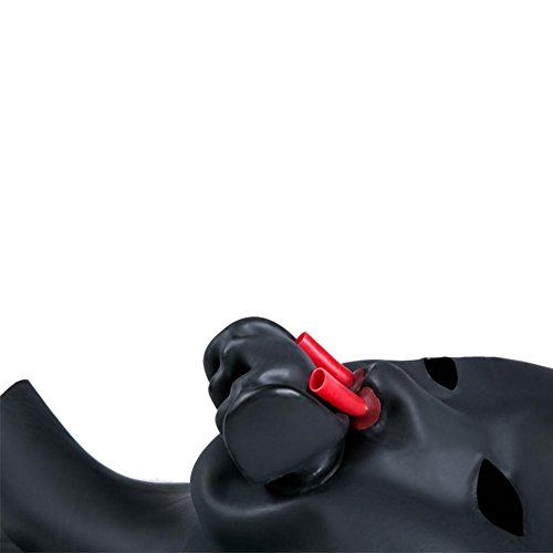 ven Maske Sexy Leder Masken Mundknebel Bondage-Set SM Restraint Bondage Bar Fetish sex Maske SM Restraint Bondage Bar Fetish Spielzeug Bondage Leder Kopf Maske TT005, Cosy-L , eyes open (Kondom Mann Kostüm)