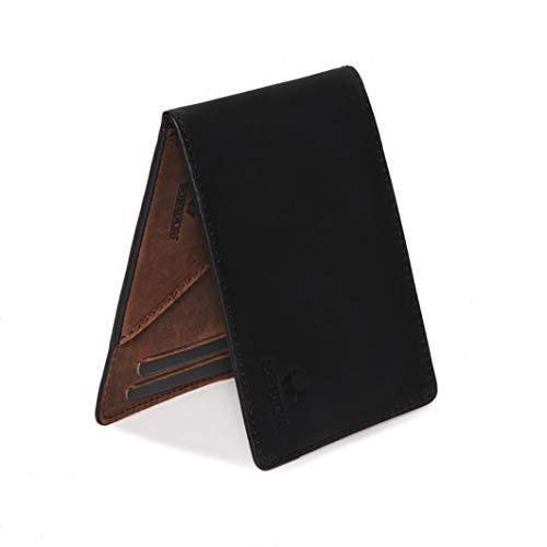 6315e379a9034 Donbolso Geldbörse Madrid mit Münzfach Leder Herren Mini Geldbeutel Flach  RFID Portemonnaie Geldklammer Slim Wallet Brieftasche