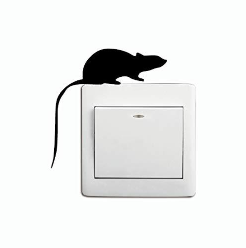 Maus Silhouette Lichtschalter Wandaufkleber Cartoon Ratte Vinyl Aufkleber Schlafzimmer Wohnkultur 3 stücke