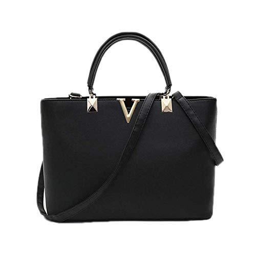 LYLb Mode V-förmige Handtasche - Messenger vielseitige Umhängetasche (Farbe : Schwarz)