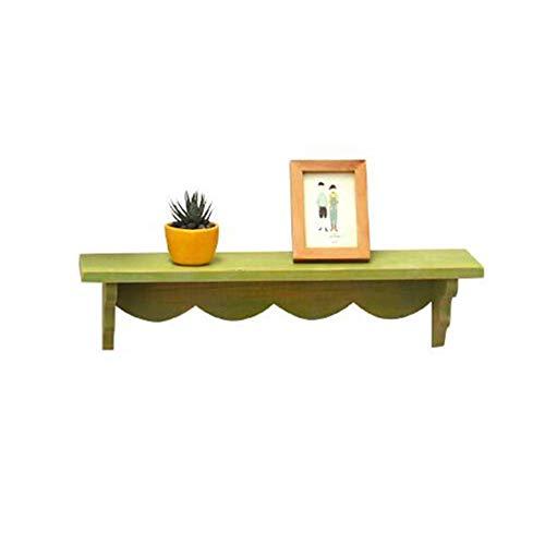 JCNFA Schwimmende Regale Ledge Wandregal Für Wohnkultur Dekoratives Wandregal Retro-Stil Wand Verdeckte Halterung (Color : Green, Size : 23.62 * 5.90 * 5.90in) - Solid Shelf Kit