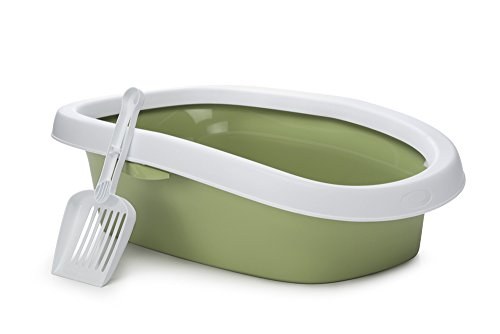 beeztees-sprint-cat-litter-pan-58-cm-white-light-green