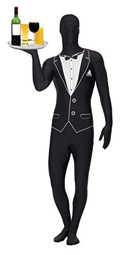 Kellner Kostüm - Smiffys Butlerkostüm Butler Kostüm schwarz Kellner Kellnerkostüm Ganzkörperkostüm Diener Gr. 48/50 (M), 52/54 (L), 56/58 (XL), Größe:L