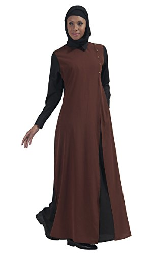 East Essence - Robe - Solid - Manches Longues - Femme Marron
