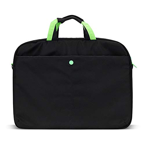 Stoßfeste Business-Computer-Tasche, einfache und schicke Laptop-Schultertasche, mehrfarbige Business-Aktentasche, geeignet für Laptop/Ultrabook/Netbook/Tablet, Unisex (Color : Black-S)