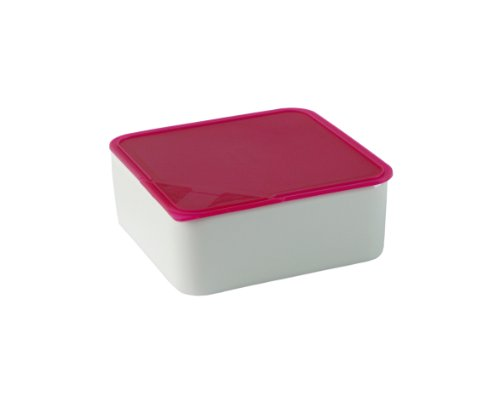 Arzberg Form 3330 Küchenfreunde Frischebox mit Kunsstoffdeckel 15 x 15cm, rosa