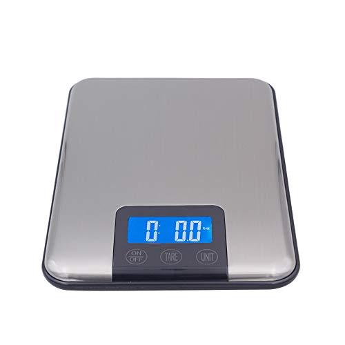 DuDuDu L'écran Slim Alimentaire INOX LCD Digital Kitchen Poids diète Scale Touch Balance 15Kg 15000G 1G