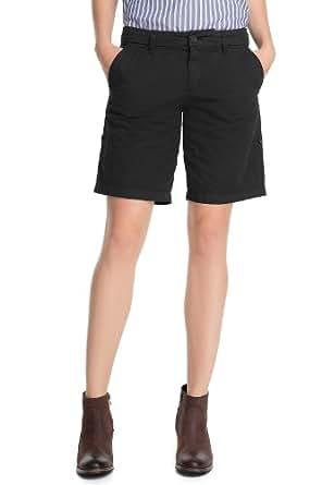 ESPRIT Short Femme - Noir - Schwarz (001 black) - FR : 42 (Taille Fabricant : 40)
