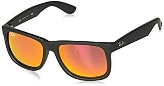 Ray-Ban - Justin Wayfarer Lunettes de Soleil - Noir (Rubber Black/Orange Glass) - 54 mm (B00S4QIFO0) | Amazon price tracker / tracking, Amazon price history charts, Amazon price watches, Amazon price drop alerts