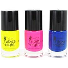 Esmalte de uñas fluorescente para uñas postizas Ibiza by Night Laura belleza 09997101 amarillo