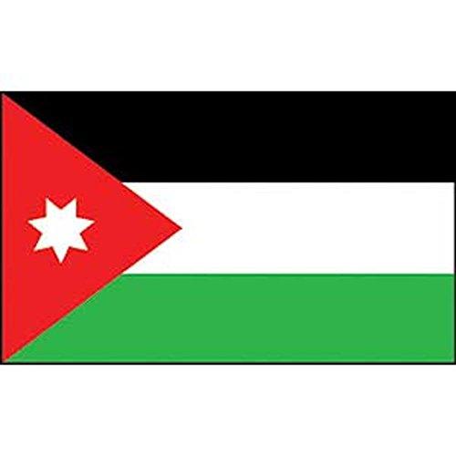FindingKing Jordan Flag On Stick - 10.16 cm x 15.24 cm