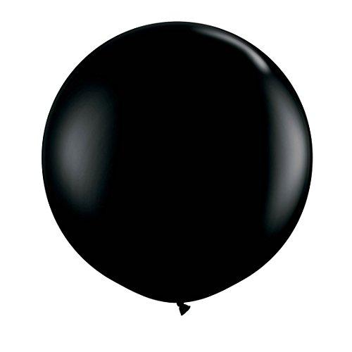 NET TOYS Globo Gigante 90cm - Negro | Globo de Cumpleaños | Balón Hinchable para Fiestas | Ornamentación Inflable Boda