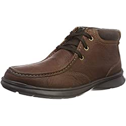 Clarks Cotrell Top, Botas Clasicas para Hombre, Marrón (Tobacco Leather), 42 EU
