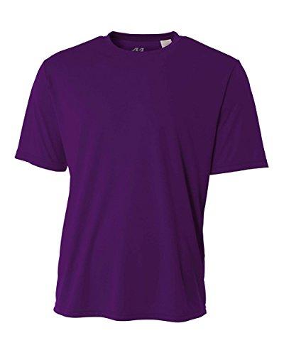 Greucy-darkA4 Men's Cooling Performance Crew Short Sleeve Tee Purple