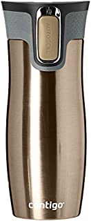 Contigo West Loop Autoseal Travel Mug, Stainless Steel Thermal Mug, Vacuum Flask, Leakproof, Coffee Mug with BPA Free Easy-Clean Lid, Latte, 470 ml (B077DG4FDG) | Amazon price tracker / tracking, Amazon price history charts, Amazon price watches, Amazon price drop alerts