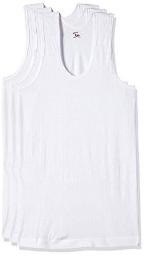 Rupa Jon Men's Cotton Vest (Pack of 3) (8903978687353_JN Vest RN_85_White/Medium)