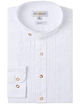 Almsach Herren Trachtenhemd weiß 002509