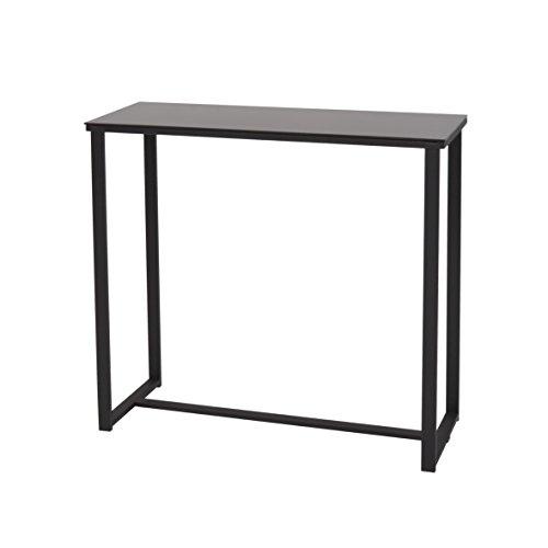 More Design MOUSE-CONSOLE-NR Console Métal Laqué Epoxy/Verre Trempé Noir 80 x 30 x 75 cm