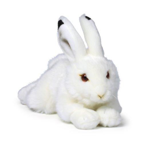 Mimex WWF14825 - Coniglio delle Nevi di Peluche, sdraiato, 23 cm