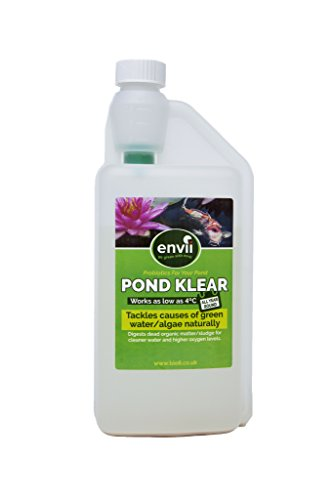 Envii Pond Klear 1 Litre - ALL YEAR Treatment - Works as low as 4°C! Green water, sludge, algae. Free UK Delivery- Pond Clear. Test