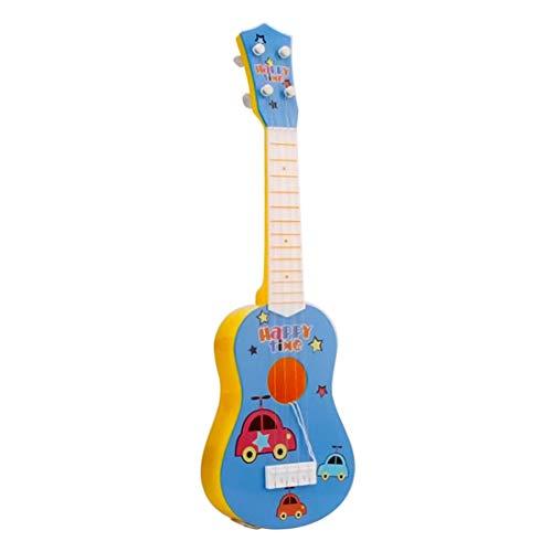 Foxom Guitarra Niños 6 Cuerdas Infantil Guitarra Juguetes - Instrumento Musical para Niño y Niña de 3 años + (Azul)