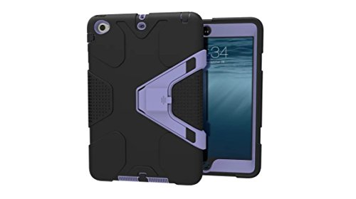 Custodia per Apple iPad Mini 3 iPad Mini 3, meaci (TM) - Cuscinetto in silicone e plastica Combo Dual Layer con staccabile supporto antiurto bambini Proof Custodia protettiva e nero viola