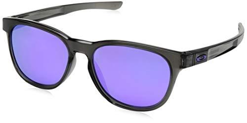 Oakley Herren Sonnenbrille Stringer Grau (Grey Smoke/Violetiridium), 55