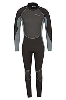 Mountain Warehouse Mens Full Wetsuit - Close, Sculpted Fit, Neoprene Fabric with Flat Seams, Adjustable Neck Closure, Easy Glide Zip Mechanism & Inner Key Pocket by Mountain Warehouse