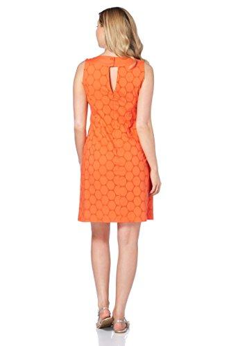 Roman Originals - Robe Motif Cercles Bijoux - Femme Orange