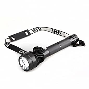 75W 7500lm Brightest Lampe de poche rechargeable HID