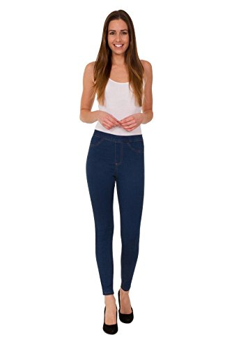 Ex High Street Brand High Waist Denims Womens Apparels Stretchable Skinny Jeggings with Button and Zip Fastening Jeans
