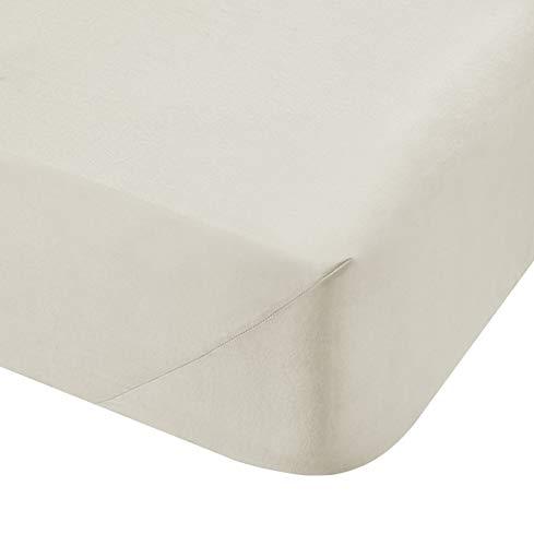 Catherine Lansfield dickes Spannbetttuch, 500TC-Baumwolle, Weiß, Doppelbettgröße, cremefarben, Super King Fitted Sheet (Hotel Bath Sheet)