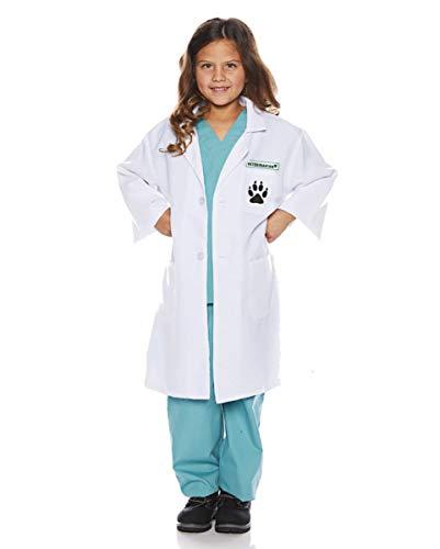 Kinder Tierarzt Kostüm - Horror-Shop Mehrteiliges Tierarzt Kinderkostüm für Karneval M