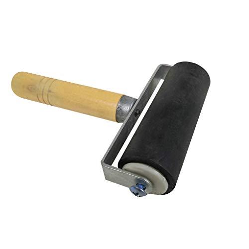 Farb-kunst-druck (Dergtgh Farbholzschnitte Deluxe Hartgummi Brayer Roller Heavy Duty Stahlrahmen Kinder-Kunst-Fertigkeit-Werkzeug)